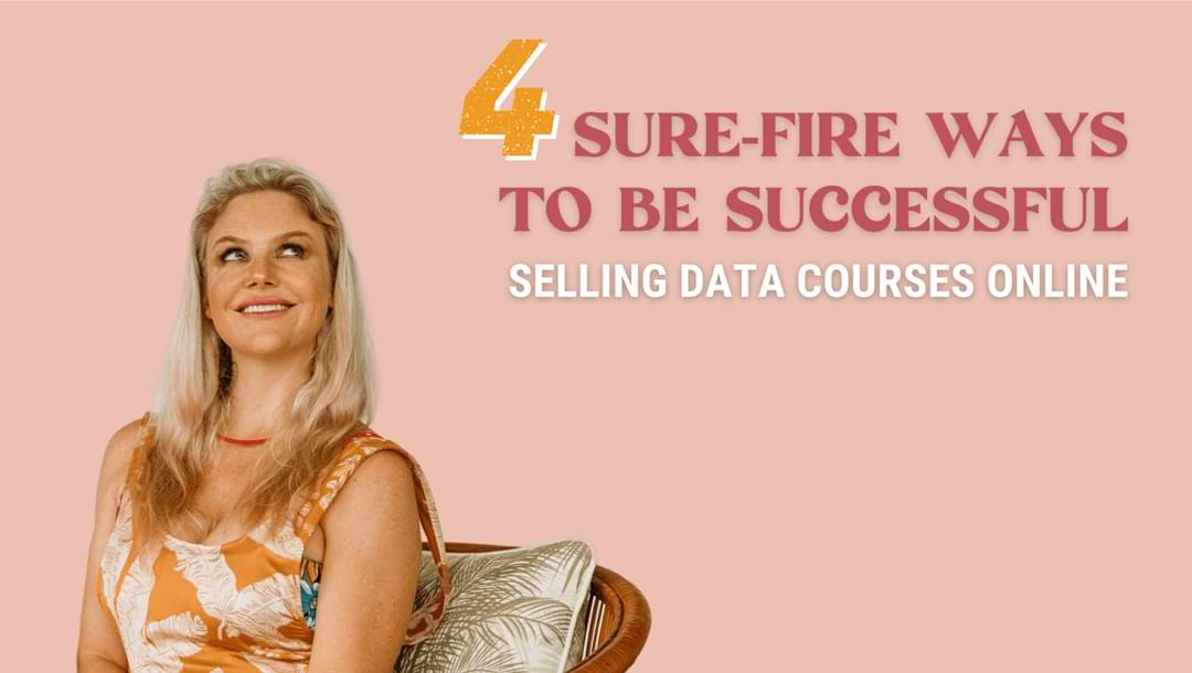 selling data courses online tips