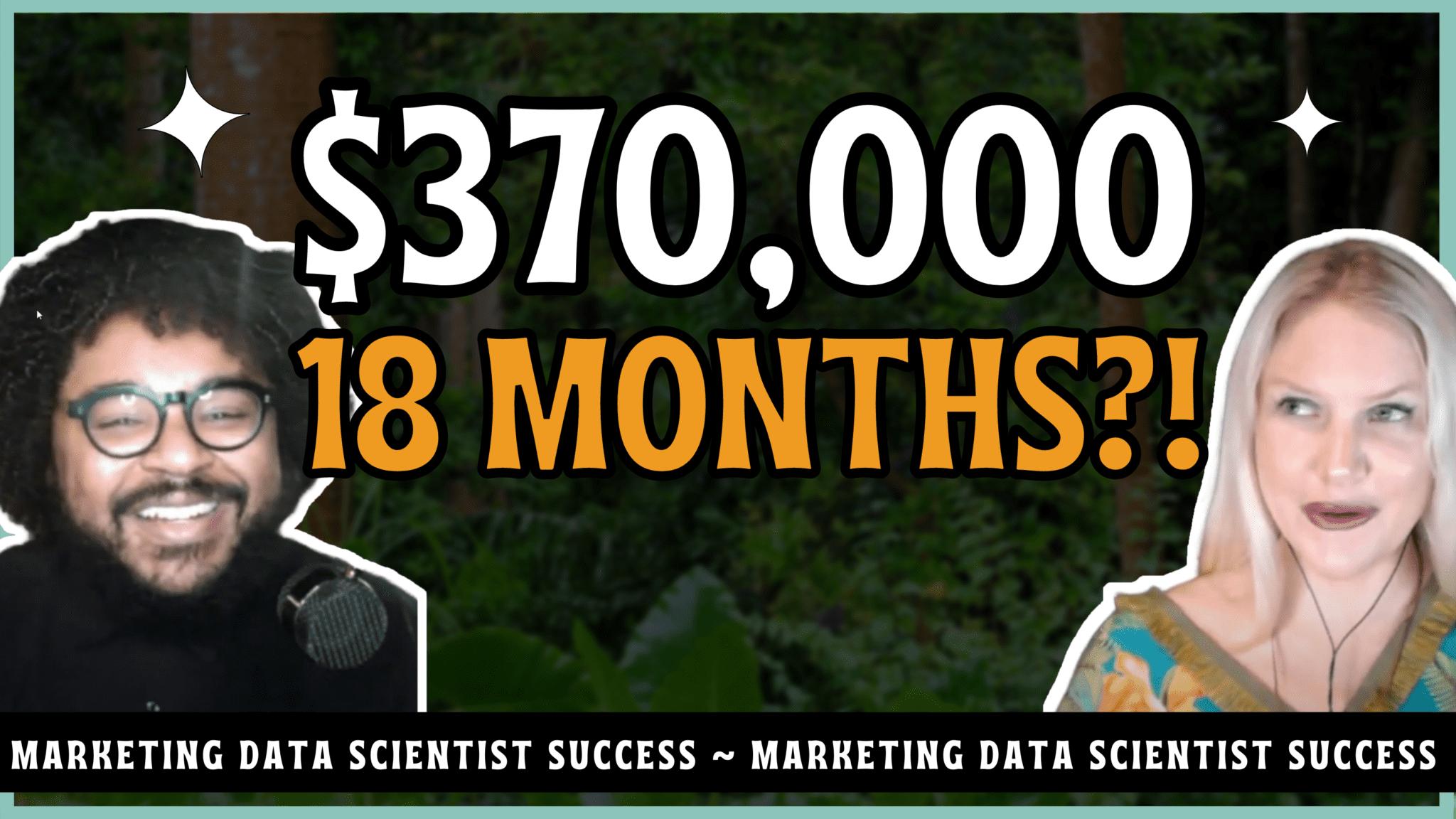 Marketing data scientist success story